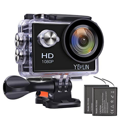 YELIN 1080P Full HD 2.0 inch LCD Screen Waterproof Sports Action Camera Cam DV 5MP DVR Helmet Camera Sports DV Camcorder