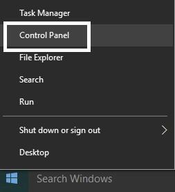 Control panel setting