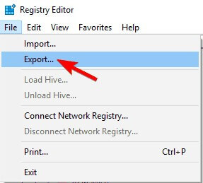 Export option