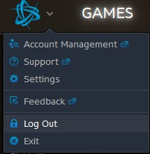 Games log out option