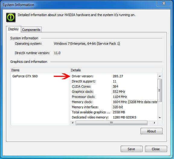 NVIDIA driver installed