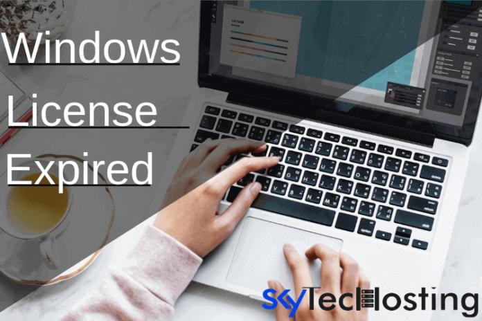 windows license expired