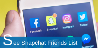 how to see friends list on snapchat