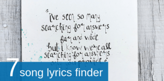 song lyrics finder