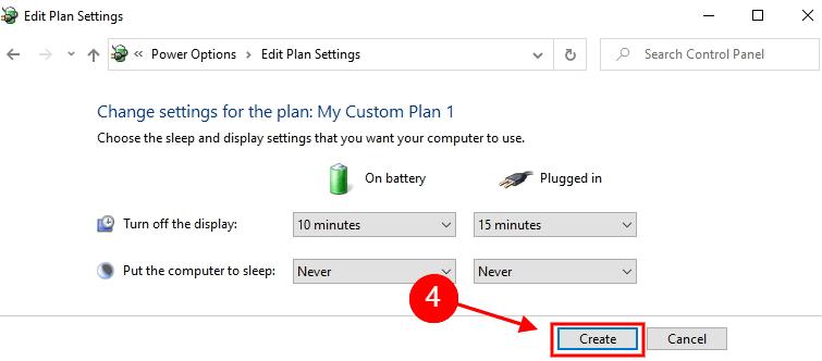 create a power plan - 2