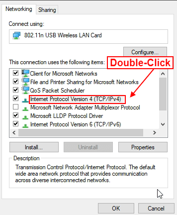 wifi properties windows 10
