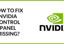 fix nvidia control panel missing