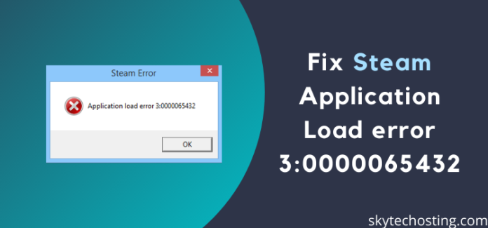 how to fix steam application load error 30000065432 img0